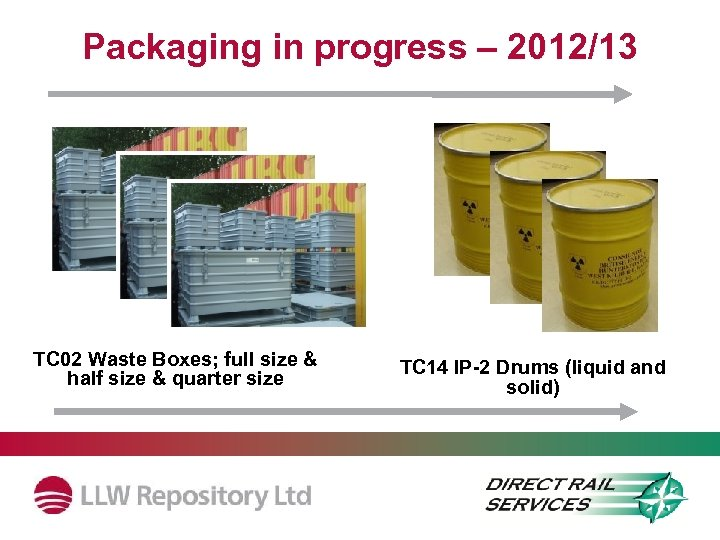 Packaging in progress – 2012/13 TC 02 Waste Boxes; full size & half size
