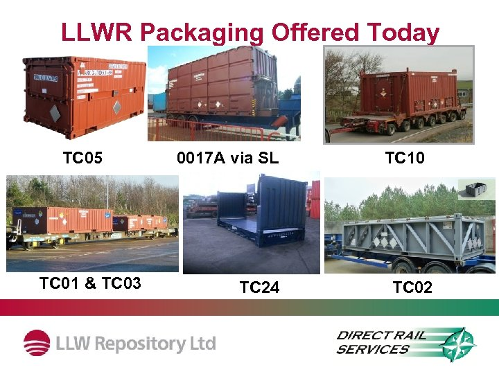 LLWR Packaging Offered Today TC 05 TC 01 & TC 03 0017 A via