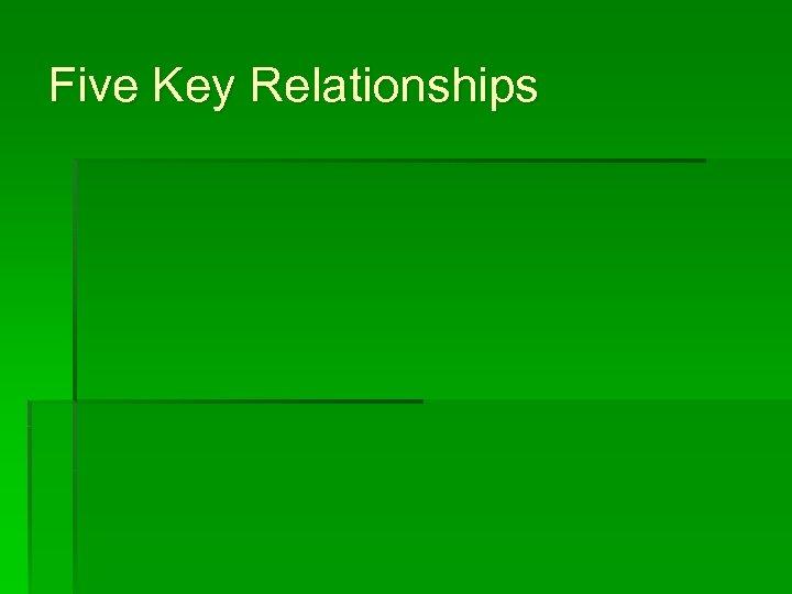 Five Key Relationships