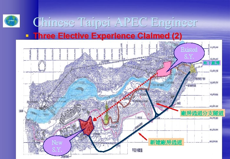 Chinese Taipei APEC Engineer § Three Elective Experience Claimed (2) Existed S. Y. 地下廠房