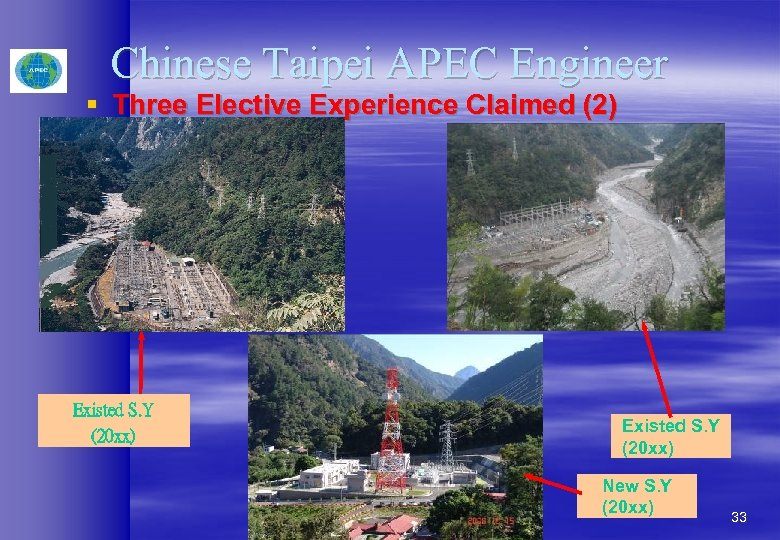Chinese Taipei APEC Engineer § Three Elective Experience Claimed (2) Existed S. Y (20