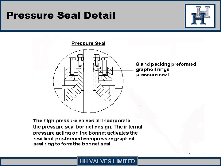 Pressure Seal Detail HH VALVES LIMITED