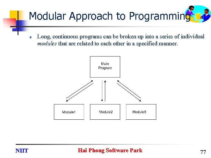 Modular Approach to Programming Long, continuous programs can be broken up into a series