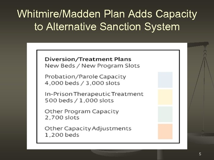 Whitmire/Madden Plan Adds Capacity to Alternative Sanction System 5