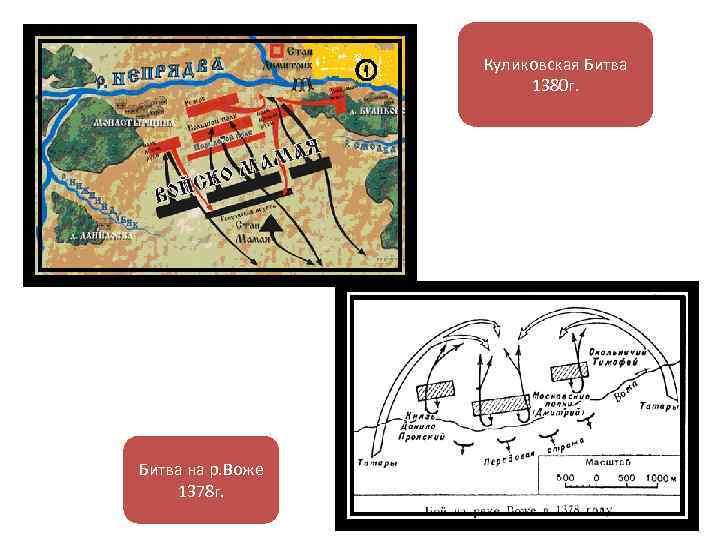 Куликовская Битва 1380 г. Битва на р. Воже 1378 г.