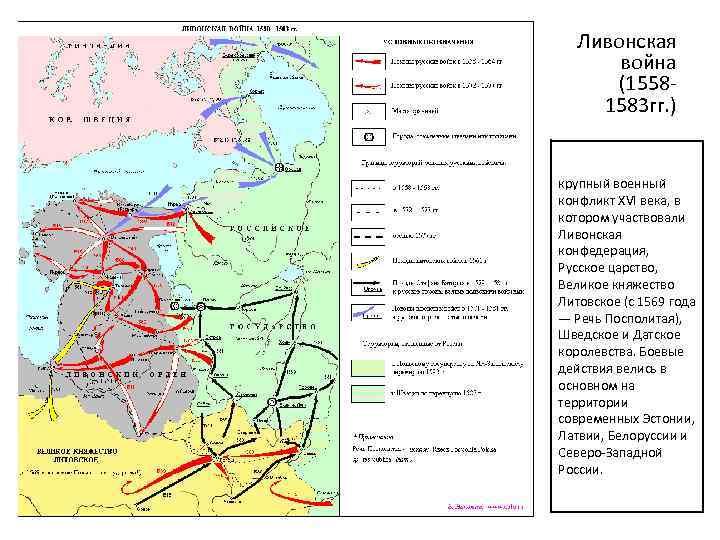 Ливонская война (1558 1583 гг. ) крупный военный конфликт XVI века, в котором участвовали