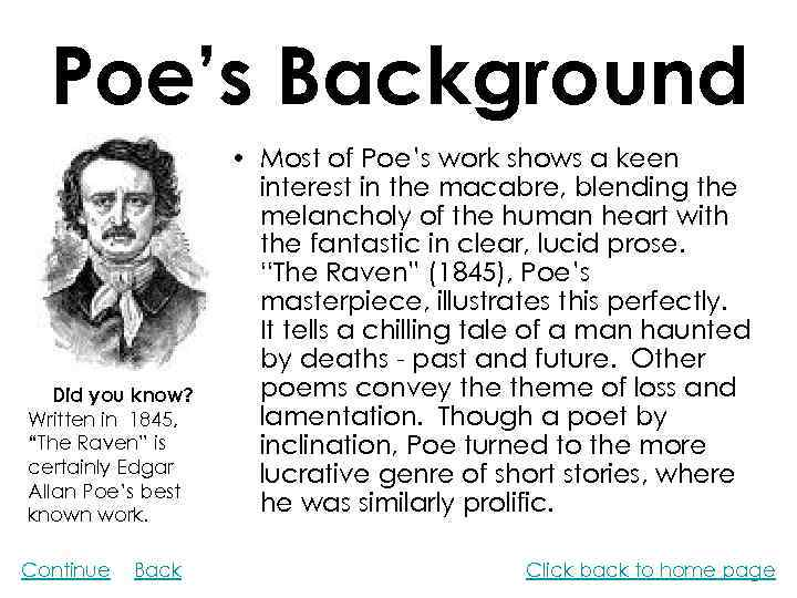 a research on edgar allan poe an american short story writer Edgar allan poe essay short stories by edgar allan poe  1849 poe was a magnificent american poet, short story writer,  research planning graphic organizer.