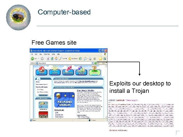 Computer-based Free Games site Exploits our desktop to install a Trojan