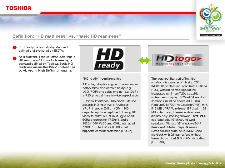 """Definition: """"HD readiness"""" vs. """"basic HD readiness"""" """"HD ready"""" is an industry standard defined"""