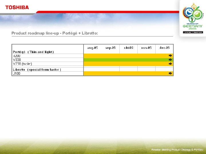 Product roadmap line-up - Portégé + Libretto: Reseller Meeting Product Strategy & Portfolio