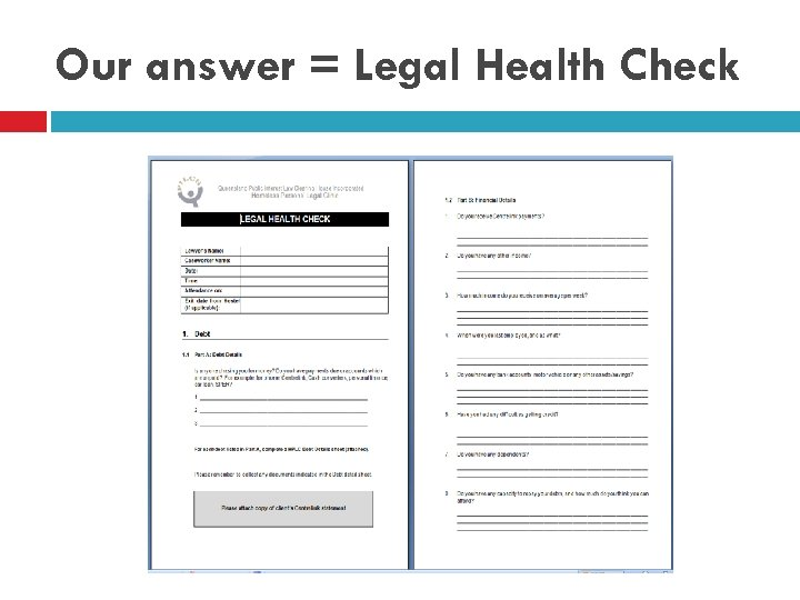 Our answer = Legal Health Check