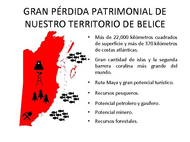 GRAN PÉRDIDA PATRIMONIAL DE NUESTRO TERRITORIO DE BELICE • Más de 22, 000 kilómetros