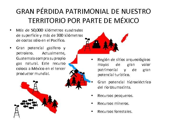 GRAN PÉRDIDA PATRIMONIAL DE NUESTRO TERRITORIO POR PARTE DE MÉXICO • Más de 50,