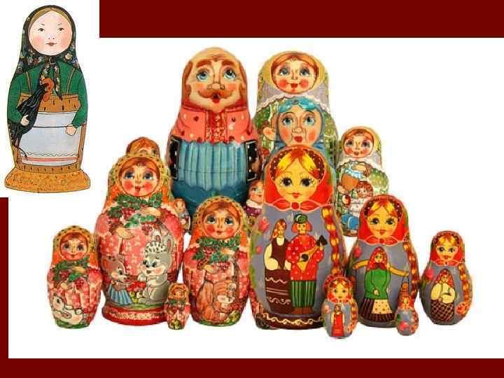 Матрёшка (предположительно от уменьшительного имени Матрёна, что означало «статная дама» ) — русская деревянная