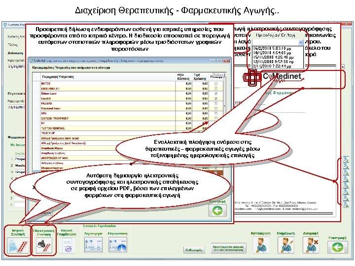 Διαχείριση Θεραπευτικής - Φαρμακευτικής Αγωγής. . Παραγωγή ηλεκτρονικής συνταγογράφησης Προαιρετική δήλωση ενδιαφερόντων ασθενή για