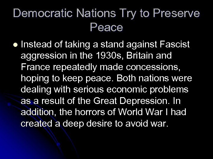 Democratic Nations Try to Preserve Peace l Instead of taking a stand against Fascist