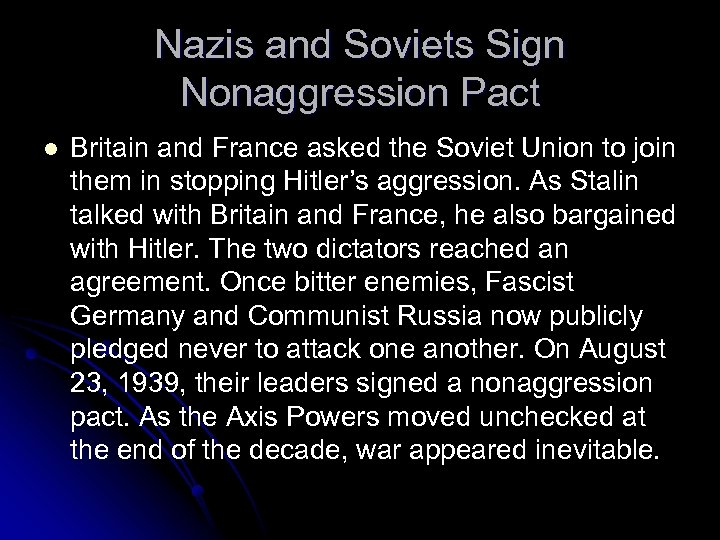 Nazis and Soviets Sign Nonaggression Pact l Britain and France asked the Soviet Union