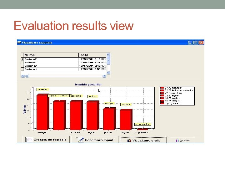 Evaluation results view