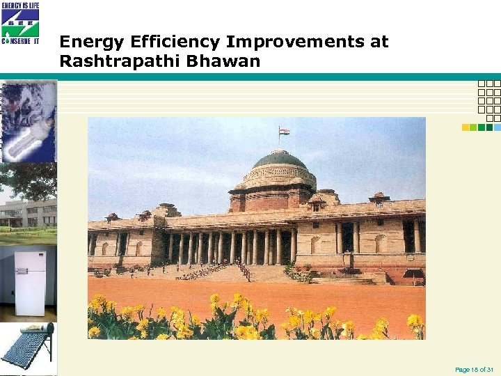 Energy Efficiency Improvements at Rashtrapathi Bhawan Page 18 of 31