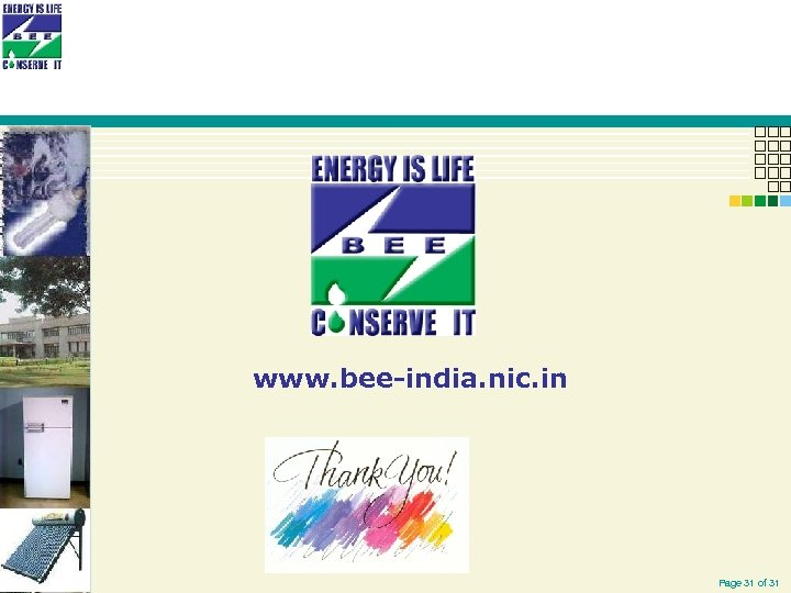 www. bee-india. nic. in Page 31 of 31