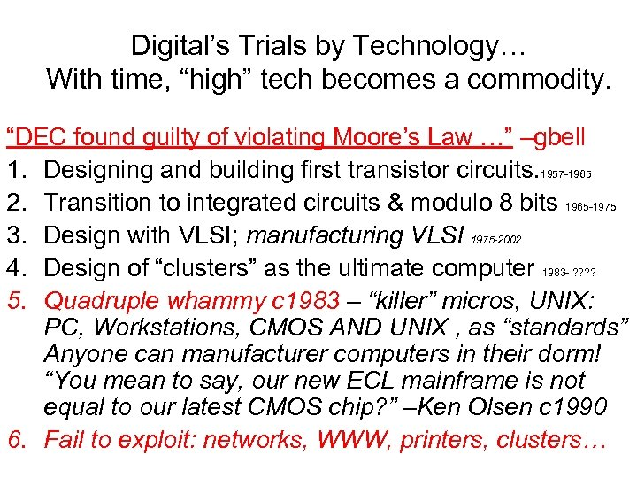 "Digital's Trials by Technology… With time, ""high"" tech becomes a commodity. ""DEC found guilty"