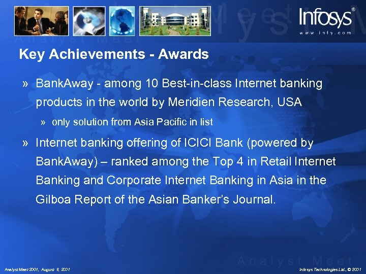 Key Achievements - Awards » Bank. Away - among 10 Best-in-class Internet banking products