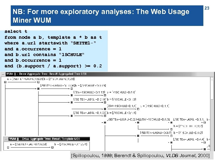 NB: For more exploratory analyses: The Web Usage Miner WUM 23 select t from