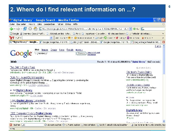 2. Where do I find relevant information on. . . ? 6