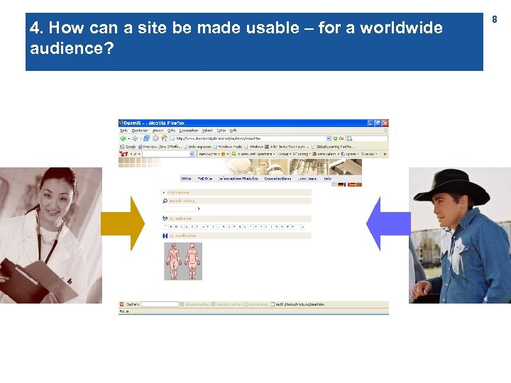 4. How can a site be made usable – for a worldwide audience? 8
