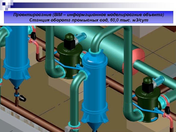 Проектирование (ВIM – информационное моделирование объекта) Станция оборота промывных вод, 60, 0 тыс. м