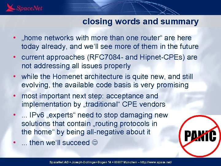"""closing words and summary • """"home networks with more than one router"""" are here"""