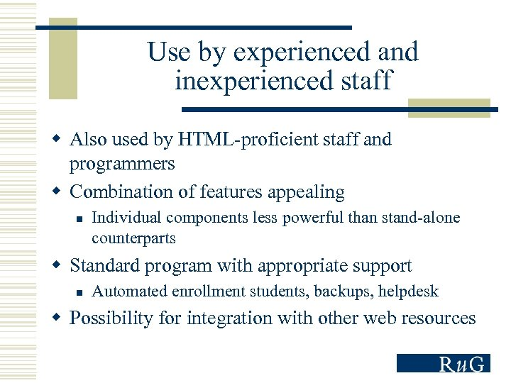 Student Helpdesk Rug.Learning Management Systems For Language Learning The Groningen