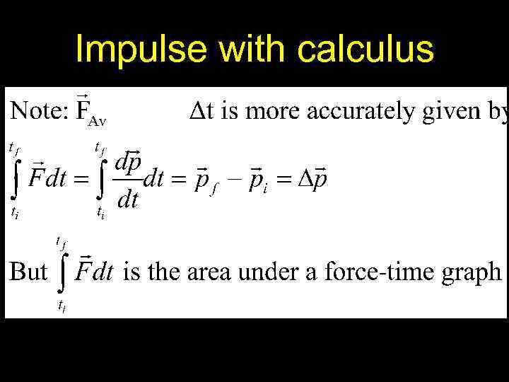 Impulse with calculus