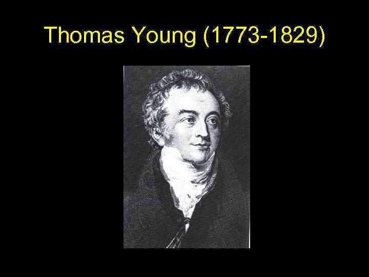 Thomas Young (1773 -1829)