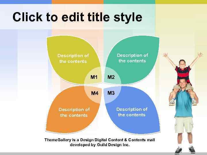 Click to edit title style Description of the contents M 1 M 4 Description