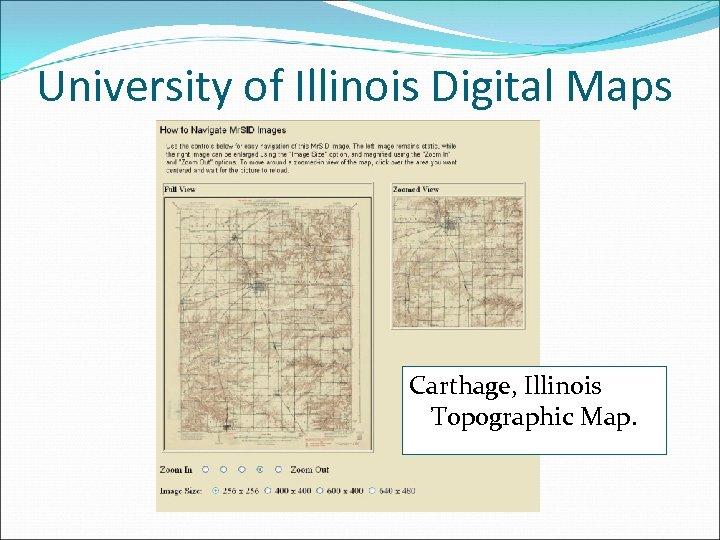 University of Illinois Digital Maps Carthage, Illinois Topographic Map.