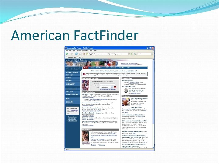 American Fact. Finder