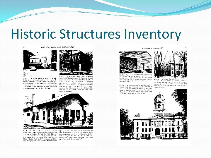 Historic Structures Inventory