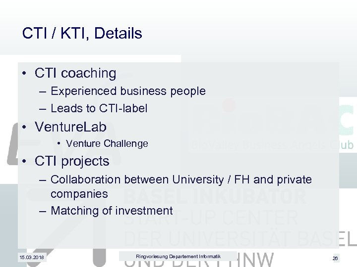 CTI / KTI, Details • CTI coaching – Experienced business people – Leads to