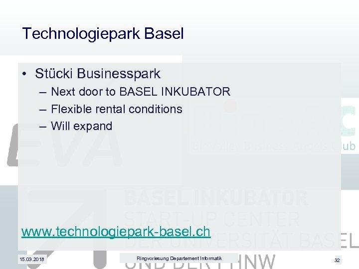 Technologiepark Basel • Stücki Businesspark – Next door to BASEL INKUBATOR – Flexible rental
