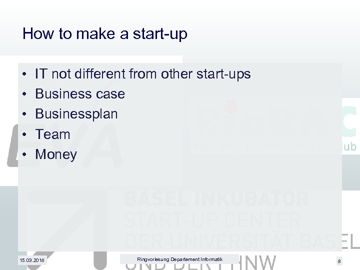 How to make a start-up • • • IT not different from other start-ups