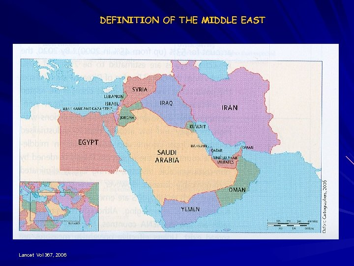 DEFINITION OF THE MIDDLE EAST Lancet Vol 367, 2006