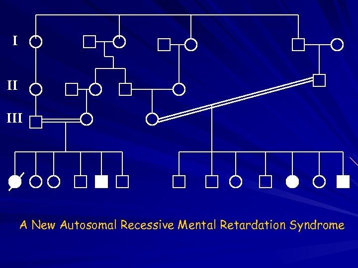 I II III A New Autosomal Recessive Mental Retardation Syndrome