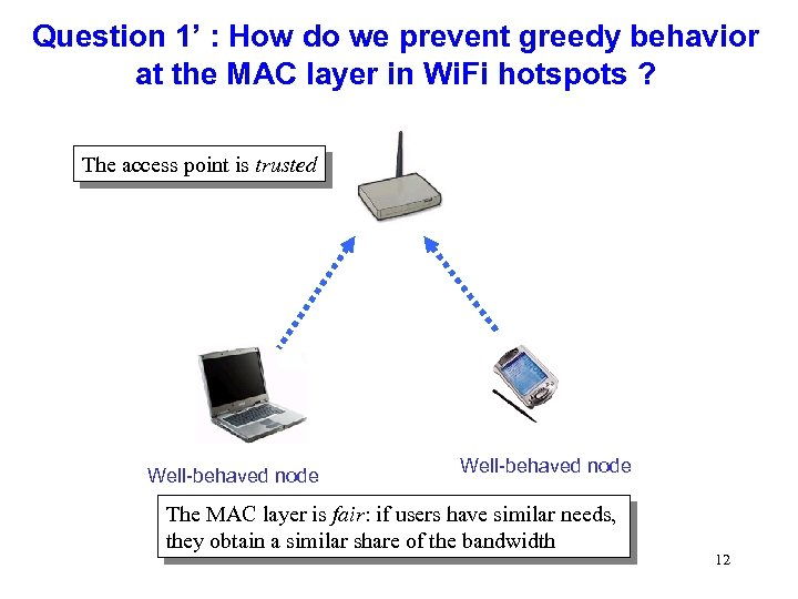 Question 1' : How do we prevent greedy behavior at the MAC layer in