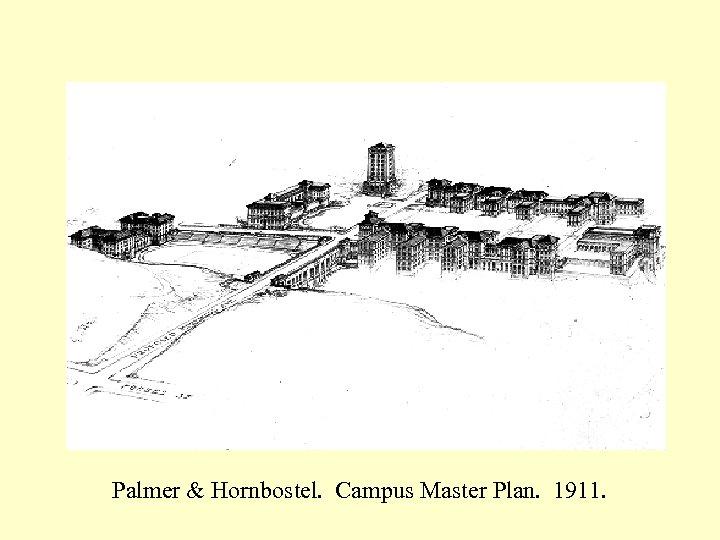 Palmer & Hornbostel. Campus Master Plan. 1911.