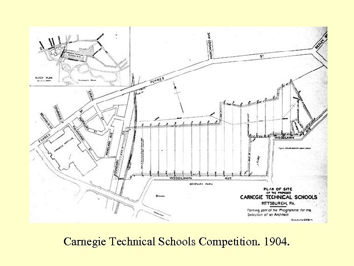 Carnegie Technical Schools Competition. 1904.
