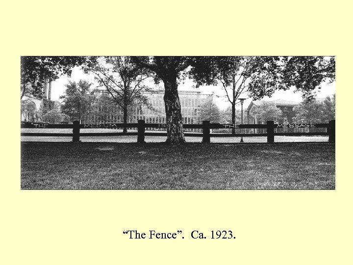 """""""The Fence"""". Ca. 1923."""