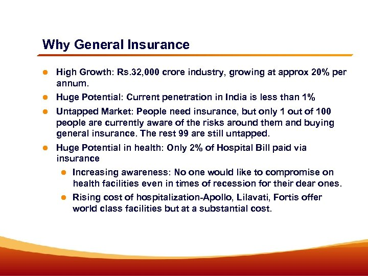 Why General Insurance High Growth: Rs. 32, 000 crore industry, growing at approx 20%
