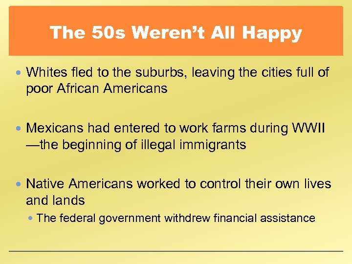 The 50 s Weren't All Happy Whites fled to the suburbs, leaving the cities