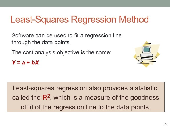 Least-Squares Regression Method Software can be used to fit a regression line through the